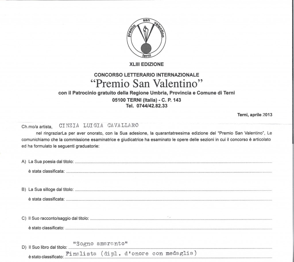 PREMIO SAN VALENTINO